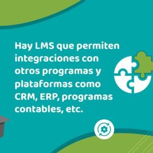 Los LMS permiten integraciones con otros programas y plataformas como CRM, ERP, programas contables, etc. | Escuela Didáctica